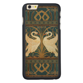 Walter Crane Swan, Rush And Iris Art Nouveau Carved Maple iPhone 6 Plus Case
