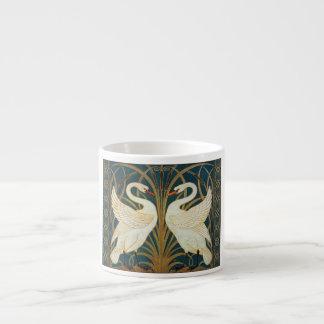 Walter Crane Swan, Rush And Iris Art Nouveau Espresso Cup