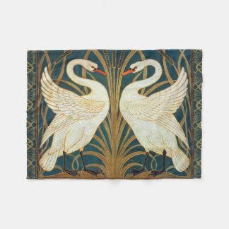 Walter Crane Swan, Rush And Iris Art Nouveau Fleece Blanket
