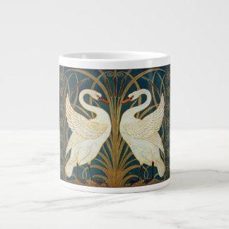 Walter Crane Swan, Rush And Iris Art Nouveau Large Coffee Mug