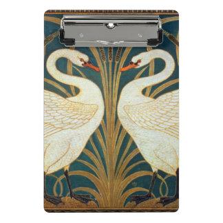 Walter Crane Swan, Rush And Iris Art Nouveau Mini Clipboard