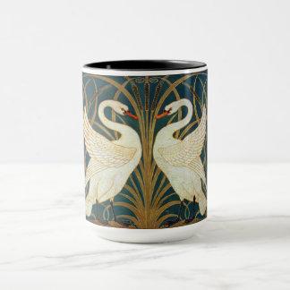 Walter Crane Swan, Rush And Iris Art Nouveau Mug