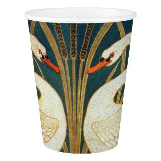 Walter Crane Swan, Rush And Iris Art Nouveau Paper Cup