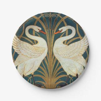 Walter Crane Swan, Rush And Iris Art Nouveau Paper Plate