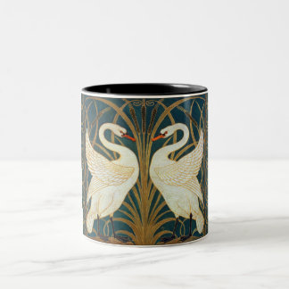 Walter Crane Swan, Rush And Iris Art Nouveau Two-Tone Coffee Mug