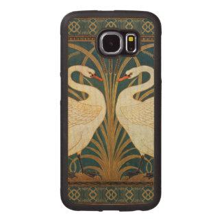 Walter Crane Swan, Rush And Iris Art Nouveau Wood Phone Case