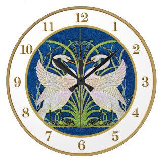 Walter Crane's Art Nouveau Twin Swans Clock