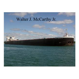 Walter J. McCarthy Jr. postcard
