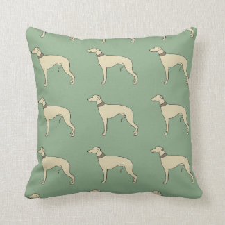 Walter the Whippet Cushion Pillow