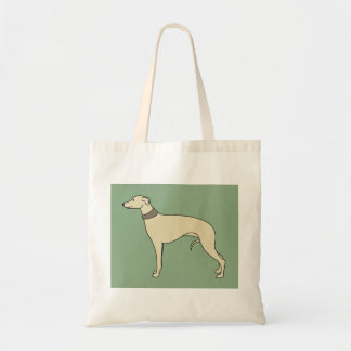Walter the Whippet Dog Tote Bag