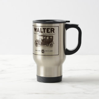 Walter vintage advertisement 1907 travel mug