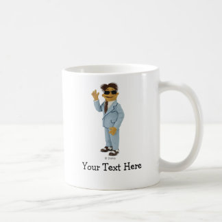 Walter wearing sunglasses coffee mug