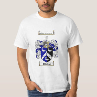 Walton Family Crest - Walton Coat of Arms Tee Shirt