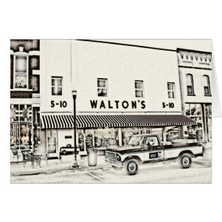 Walton's Five & Dime II Card