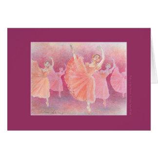 Waltz ballet greeting card of flower
