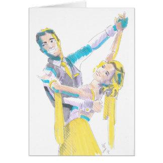Waltz Ballroom Dancers Drawing Card