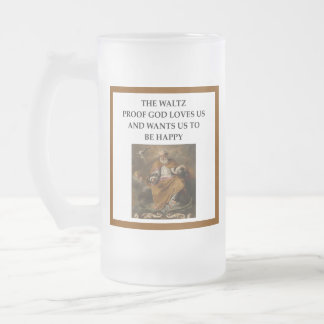 waltz frosted glass beer mug