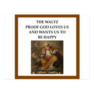 waltz postcard