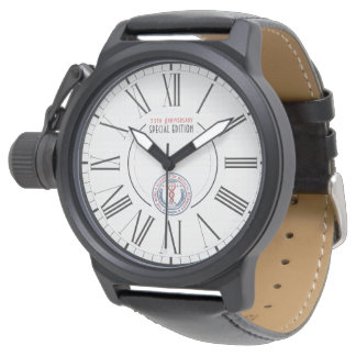 WAMS Crown Protector Black Leather Special Edition Watch