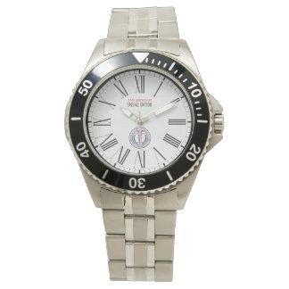WAMS Men's Stainless Steel Bracelet Watch White