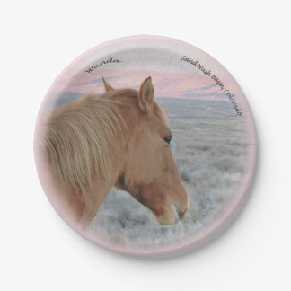 Wanda over looking the Beautiful Sand Wash Basin 7 Inch Paper Plate