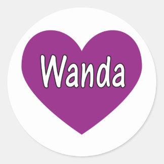 Wanda Round Sticker