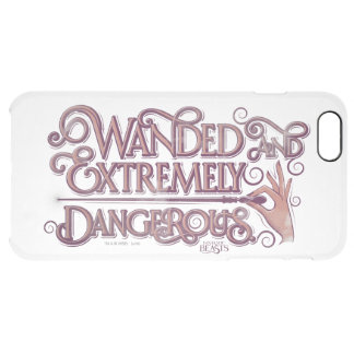 Wanded And Extremely Dangerous Graphic - Pink Clear iPhone 6 Plus Case