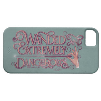 Wanded And Extremely Dangerous Graphic - Pink iPhone 5 Cases