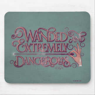 Wanded And Extremely Dangerous Graphic - Pink Mouse Pad