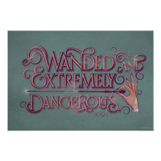 Wanded And Extremely Dangerous Graphic - Pink Poster