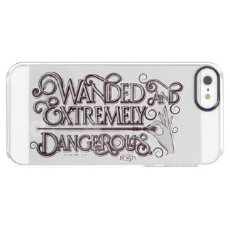 Wanded And Extremely Dangerous Graphic - White Clear iPhone SE/5/5s Case