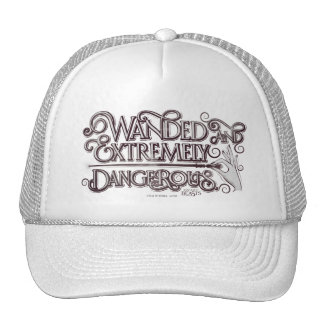 Wanded And Extremely Dangerous Graphic - White Trucker Hat