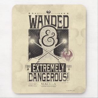 Wanded et affiche voulue extrêmement dangereuse - tapis de souris