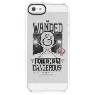 Wanded & Extremely Dangerous Wanted Poster - Black Clear iPhone SE/5/5s Case