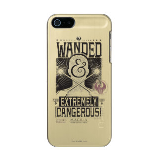 Wanded & Extremely Dangerous Wanted Poster - Black Incipio Feather® Shine iPhone 5 Case
