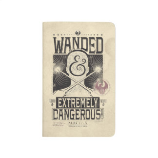 Wanded & Extremely Dangerous Wanted Poster - Black Journal