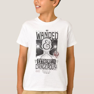 Wanded & Extremely Dangerous Wanted Poster - Black T-Shirt