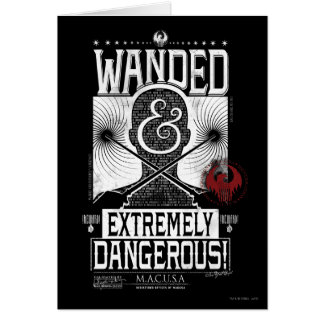 Wanded & Extremely Dangerous Wanted Poster - White Card
