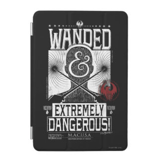 Wanded & Extremely Dangerous Wanted Poster - White iPad Mini Cover