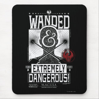 Wanded & Extremely Dangerous Wanted Poster - White Mouse Pad