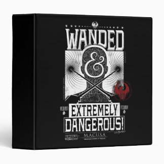 Wanded & Extremely Dangerous Wanted Poster - White Vinyl Binders