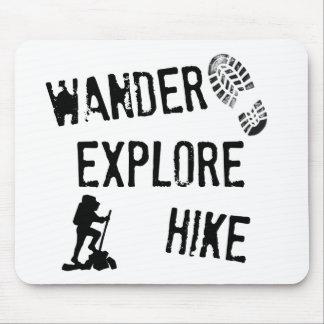 Wander Explore Hike Mousepads
