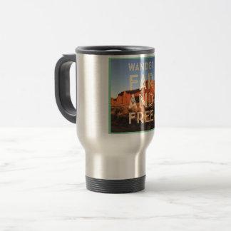 Wander Far and Free Travel Mug