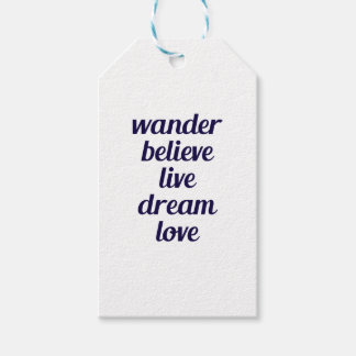 Wander Gift Tags