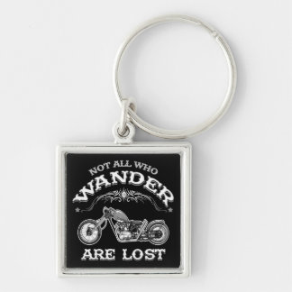 Wander Lost 1016 Silver-Colored Square Keychain