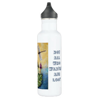 Wander Lotus Dragonfly Art Stainless Water Bottle