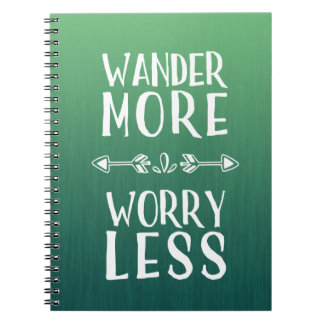 Wander More | Worry Less Boho Spiral Note Book