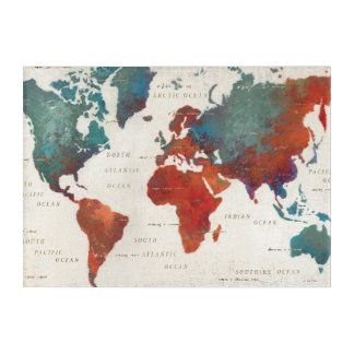 Wander Often, Wander Always Map With Quote Acrylic Print