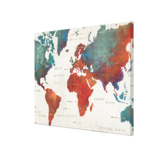 Wander Often, Wander Always Map With Quote Canvas Print