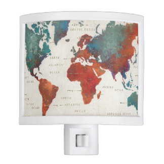 Wander Often, Wander Always Map With Quote Nite Lite